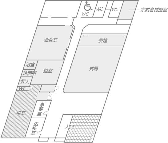 ファミリエ茶屋町 館内図