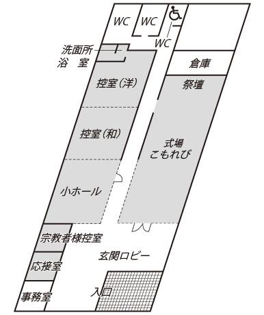 ファミリエ西阿知 館内図